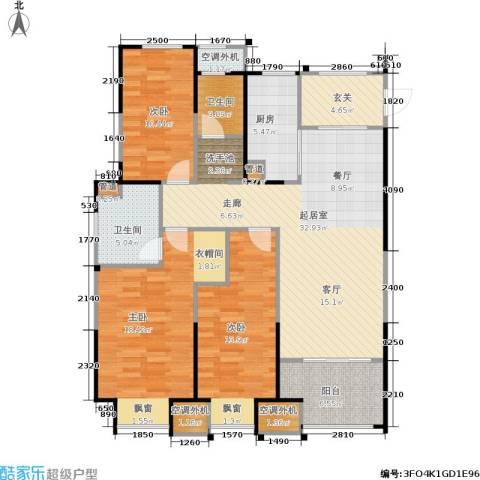 金科中心3室0厅2卫1厨114.00㎡户型图