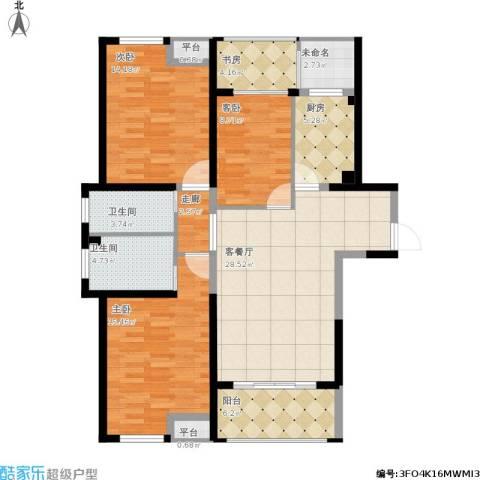 嘉宝梦之湾4室1厅2卫1厨136.00㎡户型图