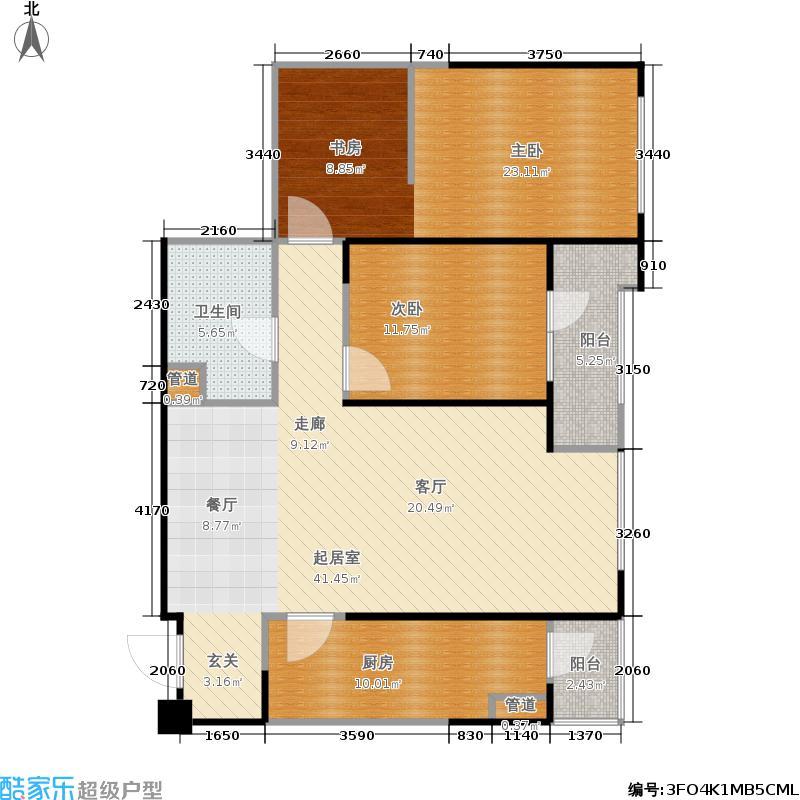 万科明天广场108.00㎡4#5门户型2室2厅