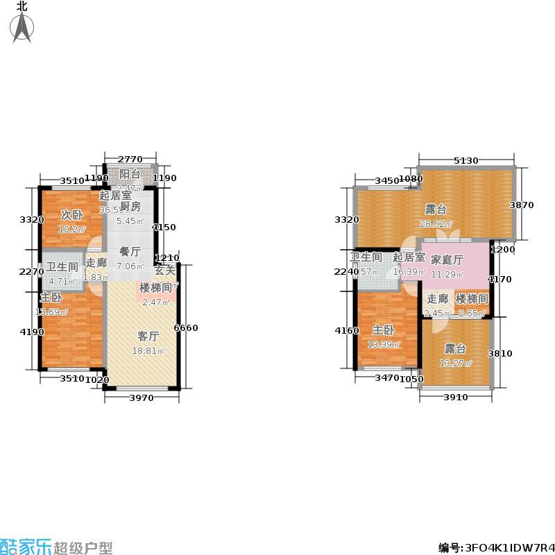 滨才星城顶层带阁楼户型2室1厅