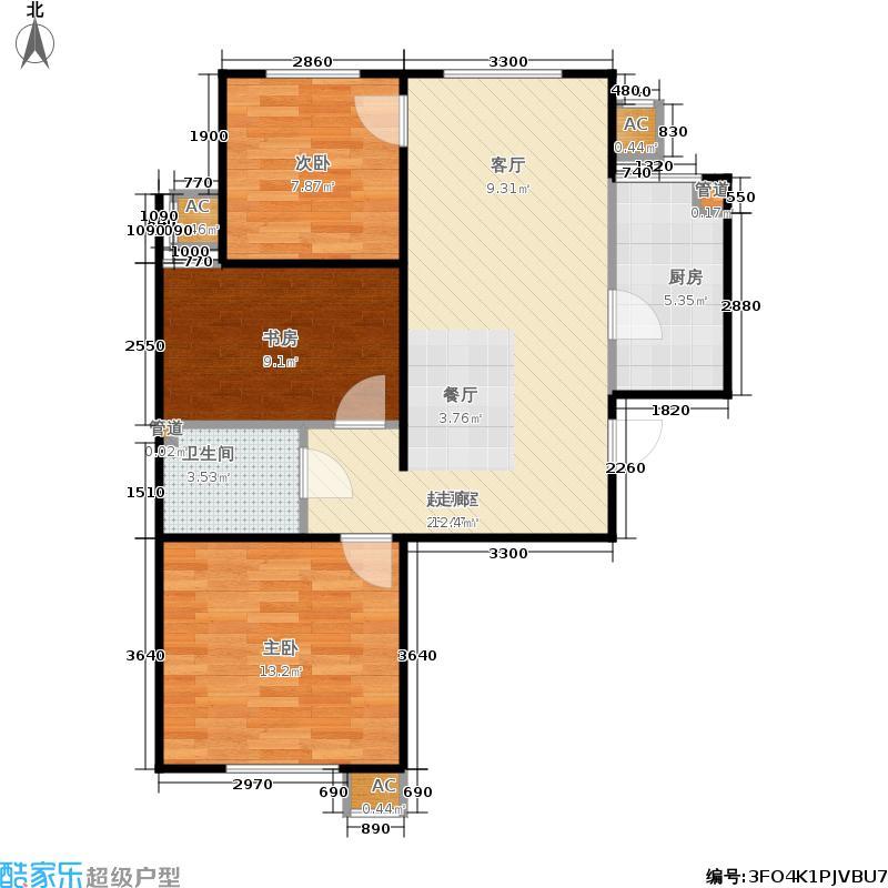 电建地产·长安嘉源89.00㎡A-4-M&apos户型3室2厅