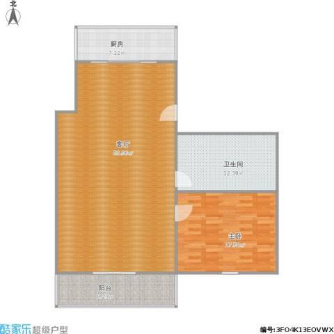 铁路宿舍1室1厅1卫1厨130.00㎡户型图