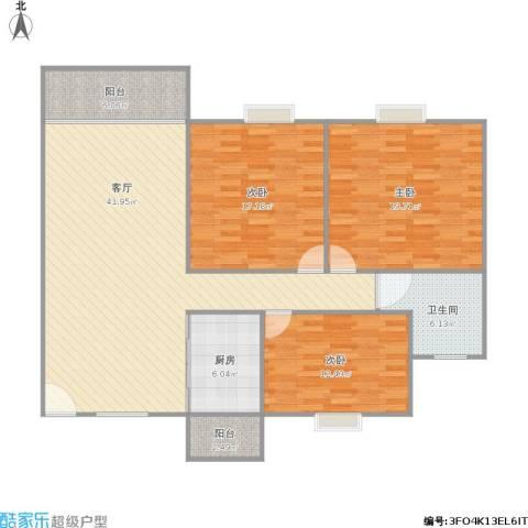 香晖园3室1厅1卫1厨149.00㎡户型图