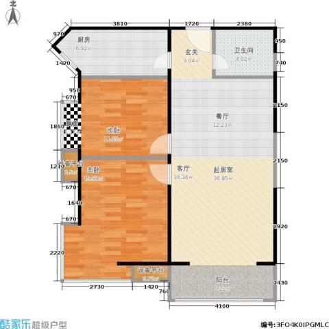 幸福家园2室0厅1卫1厨102.00㎡户型图