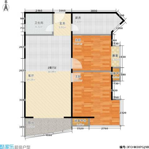 幸福家园2室0厅1卫1厨105.00㎡户型图