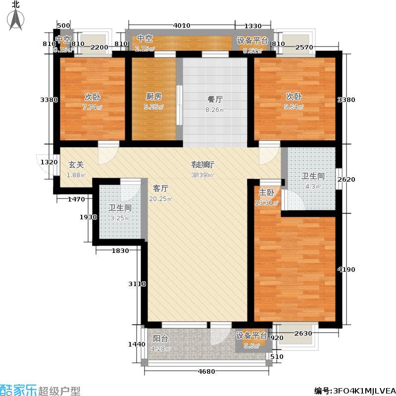 首创国际城户型3室2厅