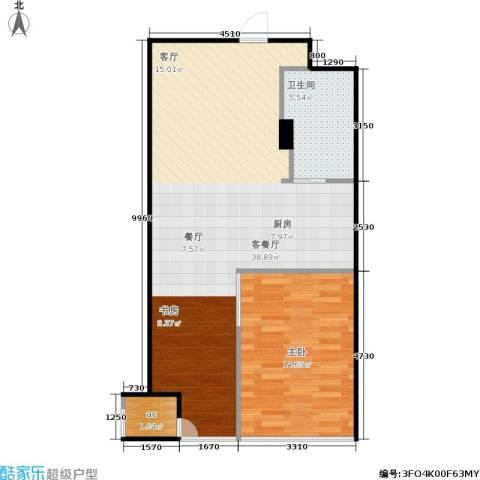 栖庭1室1厅1卫0厨65.00㎡户型图
