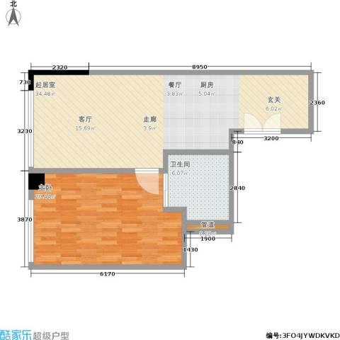 晋合公寓1室0厅1卫0厨68.00㎡户型图