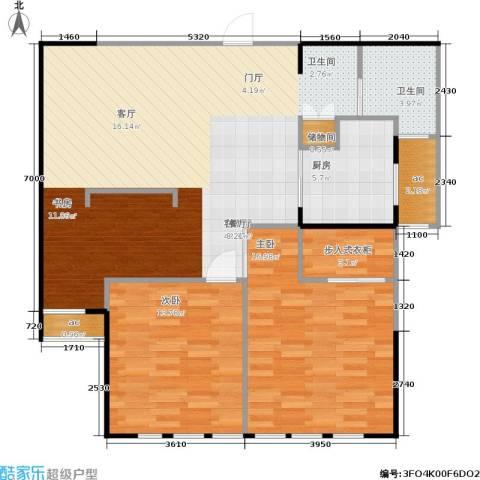 栖庭2室1厅1卫1厨96.00㎡户型图