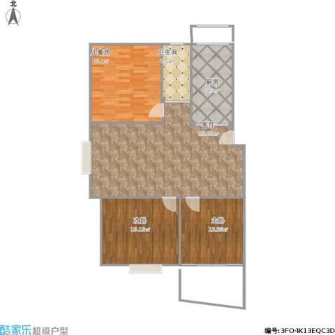 枫秦居3室1厅1卫1厨121.00㎡户型图