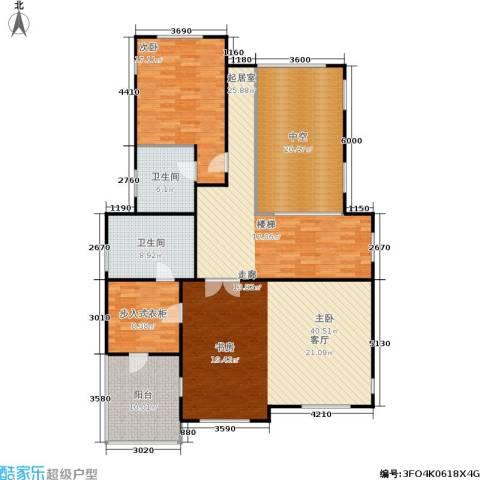 康城暖山2室0厅2卫0厨137.38㎡户型图
