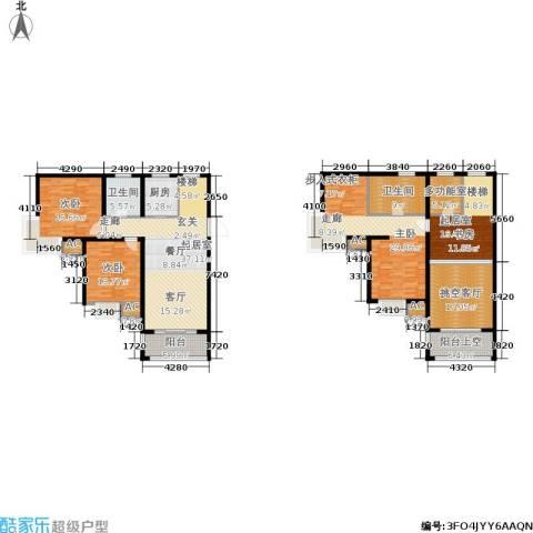 瑞景国际3室0厅2卫1厨170.62㎡户型图