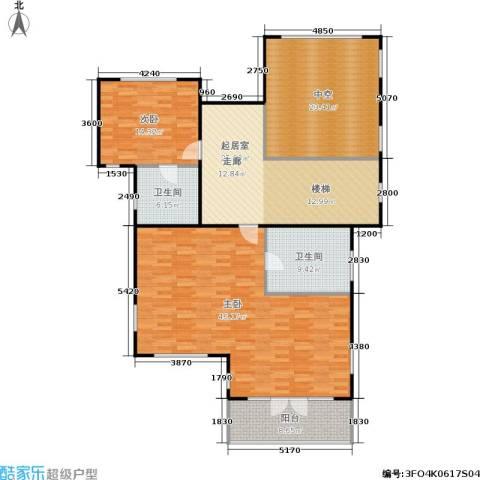 康城暖山2室0厅2卫0厨133.95㎡户型图