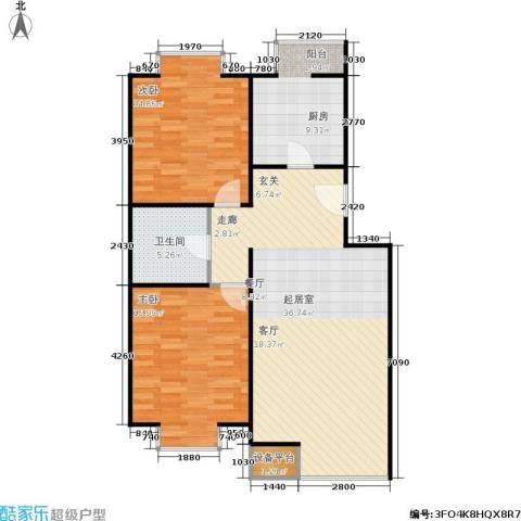 巧克力城2室0厅1卫1厨111.00㎡户型图
