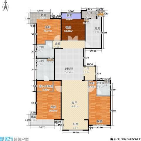 龙湖・长楹天街4室0厅3卫1厨180.00㎡户型图