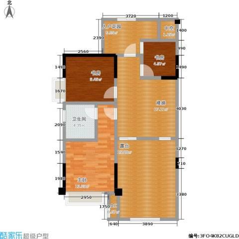 厦门禹洲高尔夫3室0厅1卫0厨110.00㎡户型图