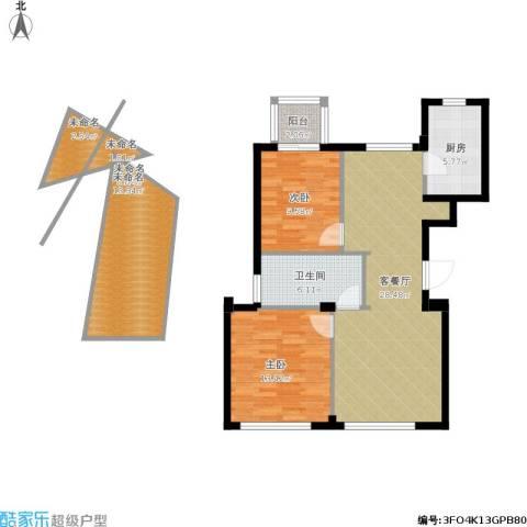 新华园2室1厅1卫1厨115.00㎡户型图