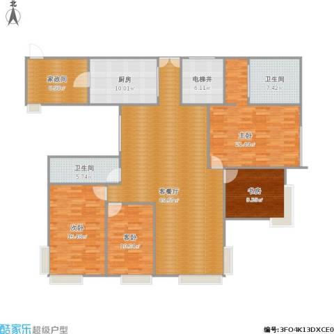 碧海雅苑4室1厅2卫1厨195.00㎡户型图
