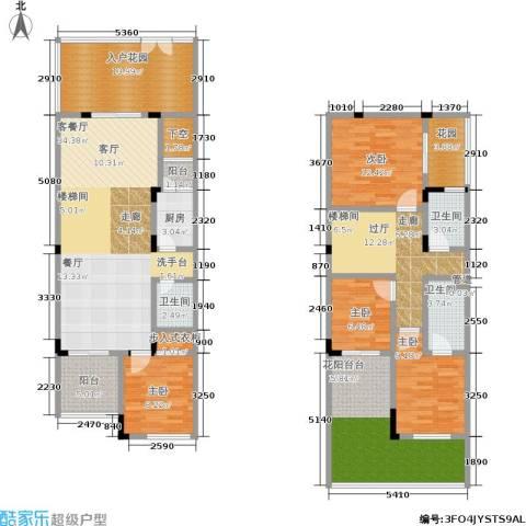 汇祥云深处4室1厅3卫1厨138.44㎡户型图