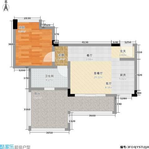 汇祥云深处1室1厅1卫0厨46.00㎡户型图
