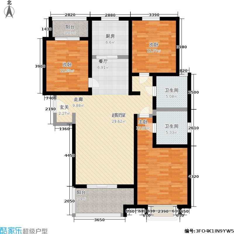 幸福城123.30㎡A2&apos户型3室2厅