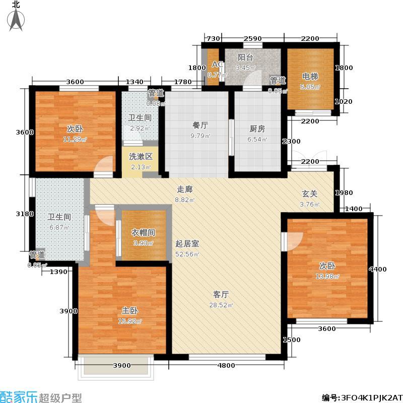 北京城建胜茂广场175.00㎡1-A户型3室2厅
