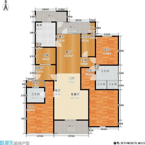 润富国际花园3室1厅5卫1厨170.00㎡户型图