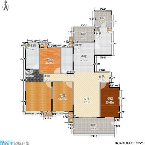 恒基誉珑岛4室1厅2卫1厨176.00㎡户型图
