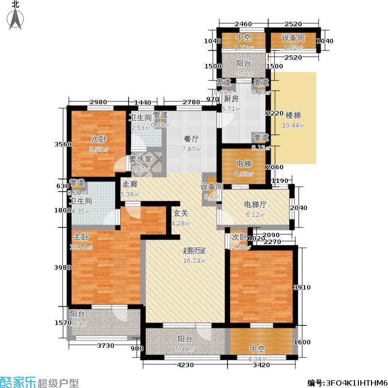 朗诗绿色街区143.00㎡8#D3户型3室2厅