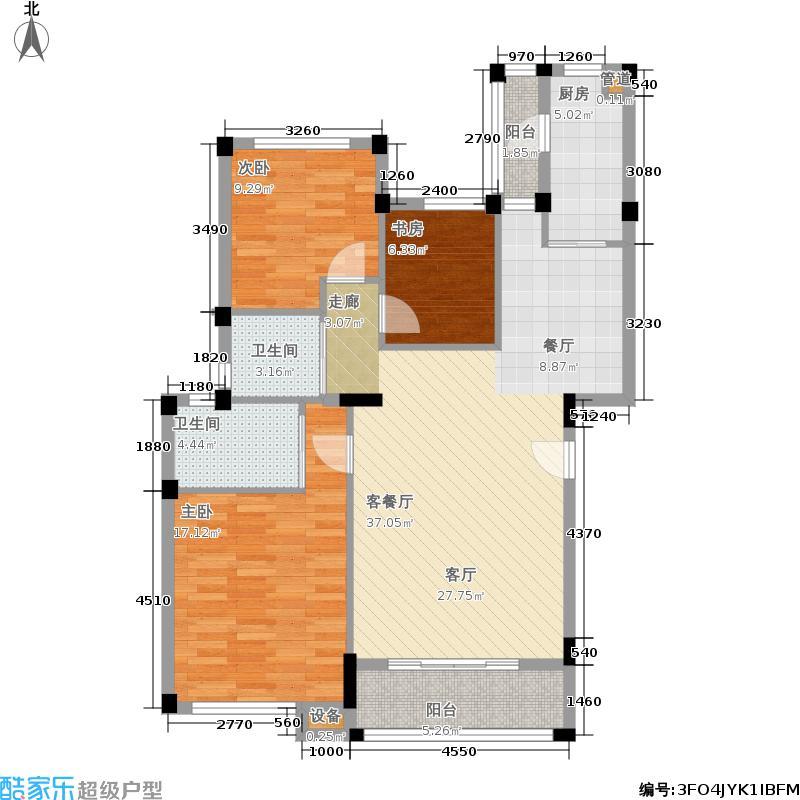 当代国际花园十五区高层112.02㎡3b-b户型
