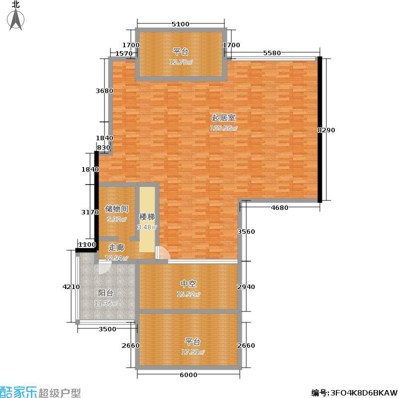 置地公馆273.51㎡L座803三室三厅三卫8层户型