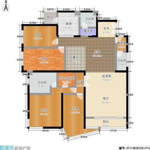 傲城融富中心4室0厅3卫1厨253.00㎡户型图