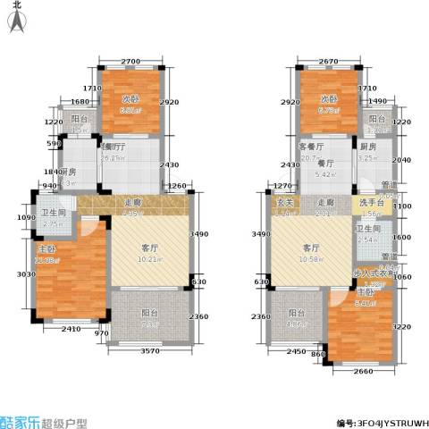 汇祥云深处4室2厅2卫2厨102.60㎡户型图
