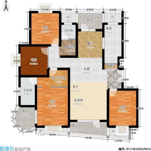 鼎鑫名流苑4室0厅2卫1厨158.00㎡户型图