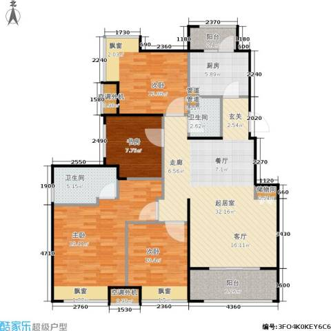 绿地芳满庭4室0厅2卫1厨116.00㎡户型图
