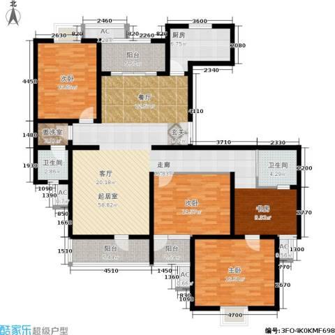 鼎鑫名流苑3室0厅2卫1厨158.00㎡户型图