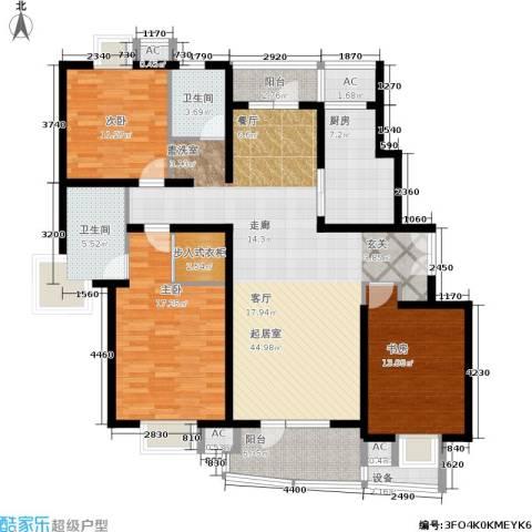 鼎鑫名流苑3室0厅2卫1厨139.00㎡户型图