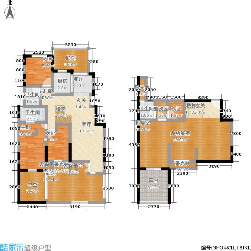 保利紫薇郡150.00㎡保利·紫薇郡洋房一层户型3室3厅