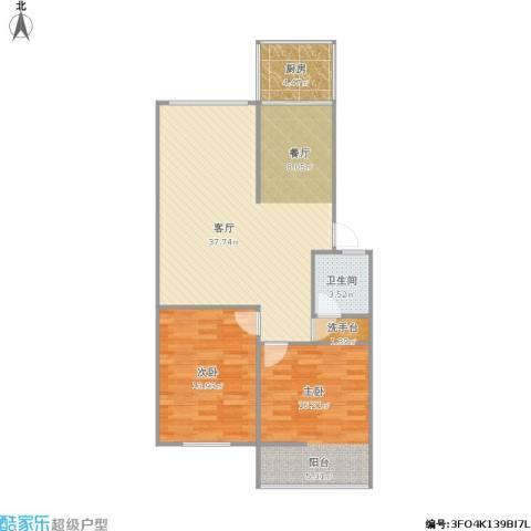 风光里2室1厅1卫1厨103.00㎡户型图
