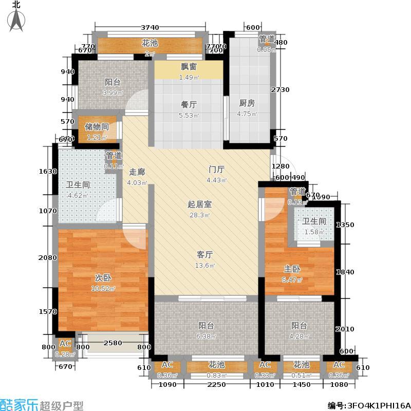 首创锦悦91.00㎡三居户型3室2厅
