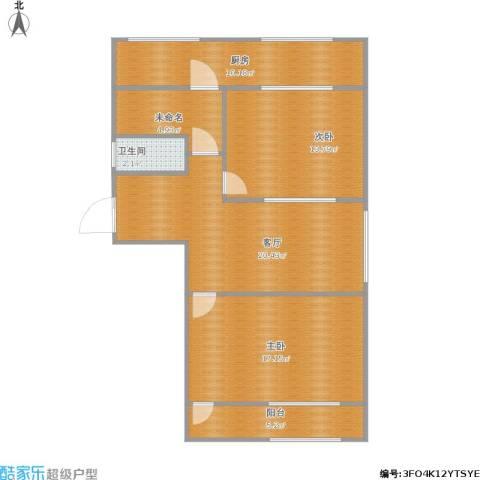 二七南路宿舍2室1厅1卫1厨100.00㎡户型图