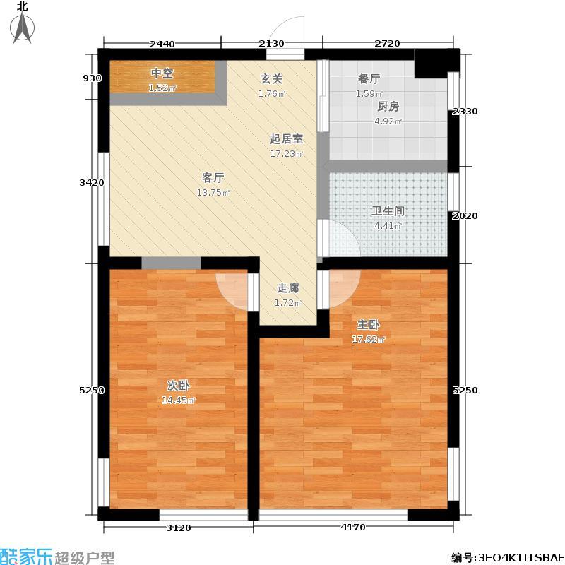 海天一品C座K户型2室1厅