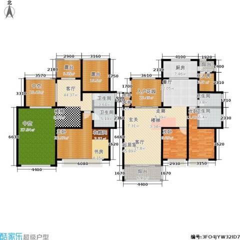 合景峰汇国际3室1厅4卫1厨235.00㎡户型图