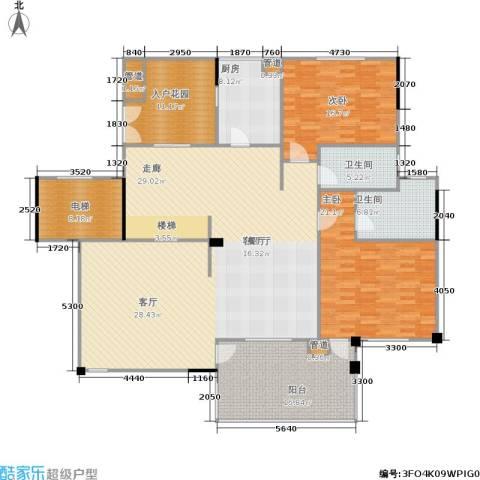 奥林匹克花园2室1厅2卫1厨180.00㎡户型图