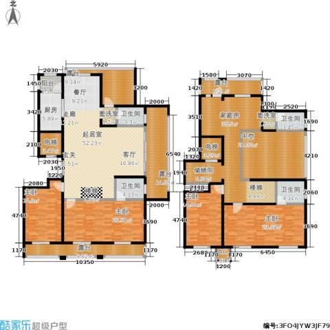 乌桥水岸花园4室0厅4卫1厨290.00㎡户型图