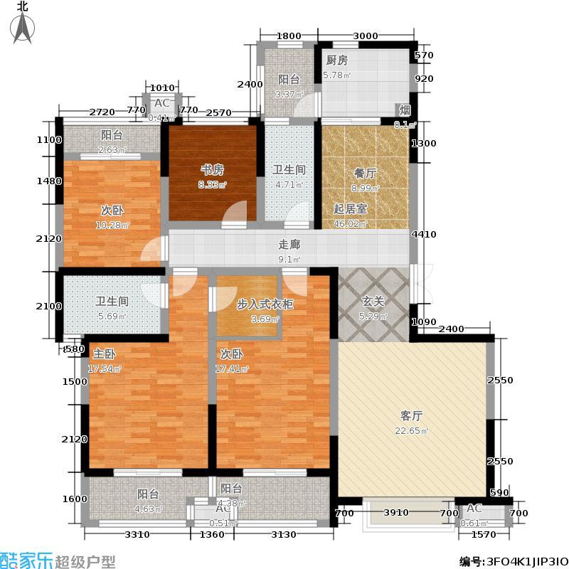 曲江龍邸182.73㎡3号楼H户型4室2厅