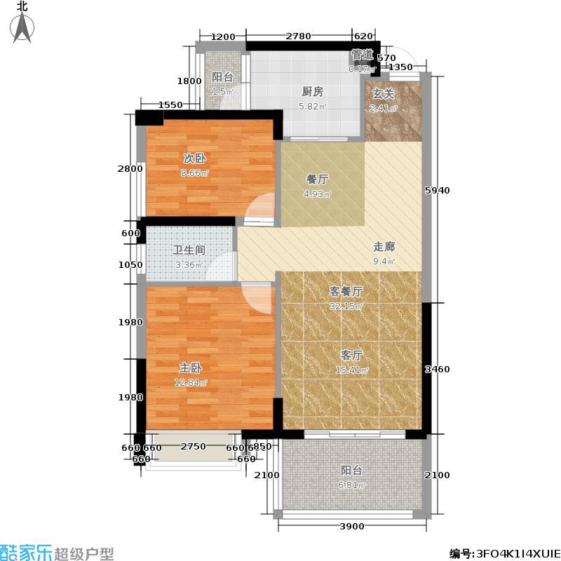 新地东方明珠1栋07/08户型2室2厅