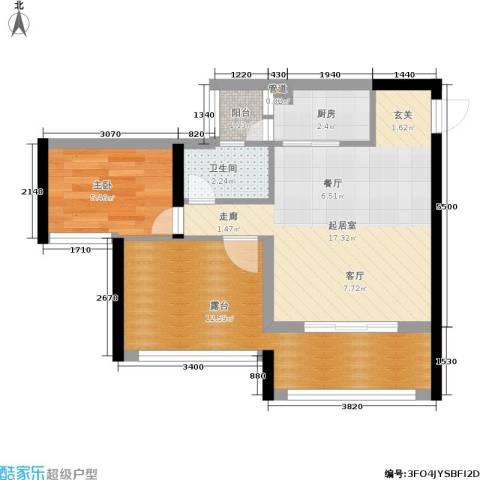 木里小镇1室0厅1卫1厨57.00㎡户型图