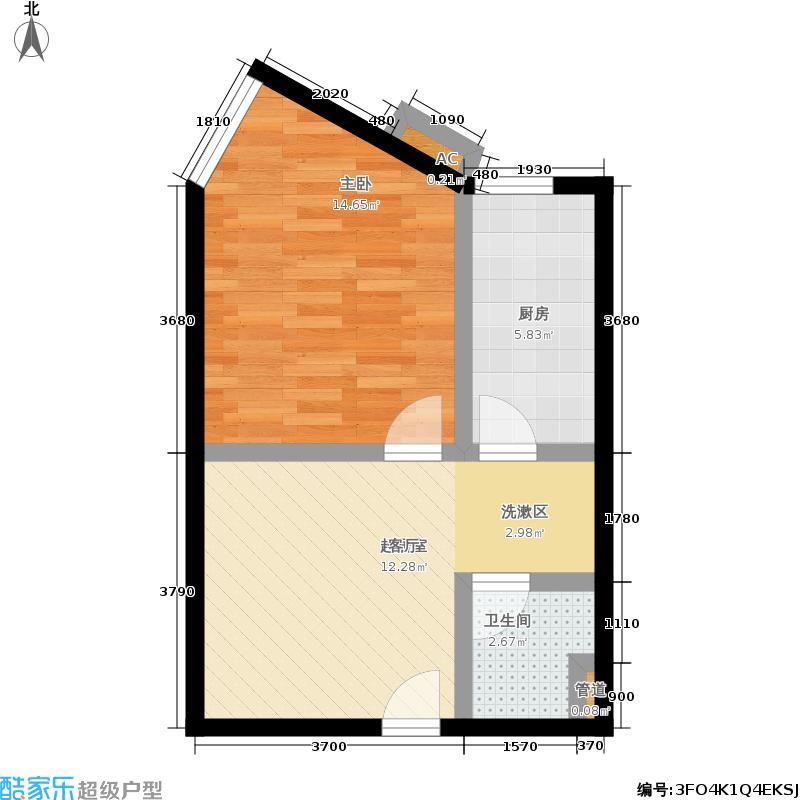 中贸广场45.00㎡户型1室1厅