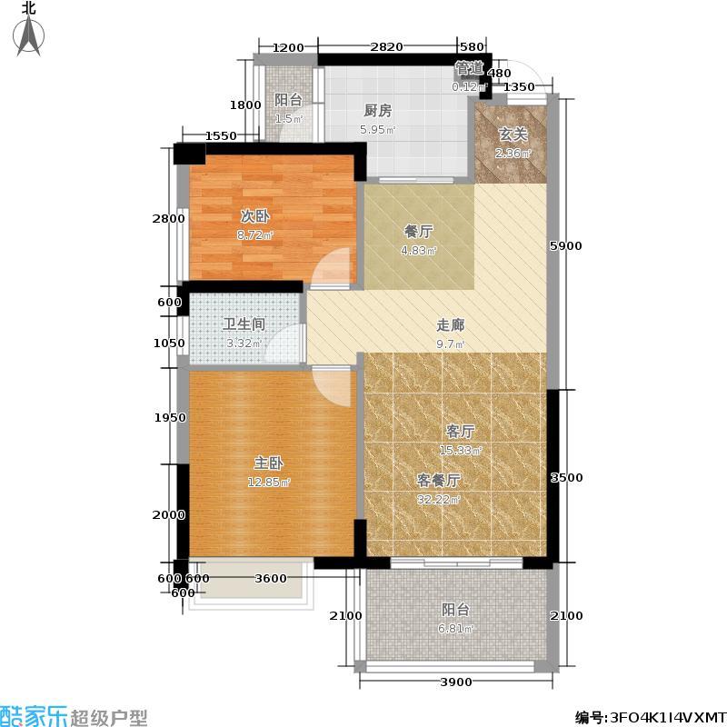 新地东方明珠89.00㎡伯爵1栋07/户型2室2厅